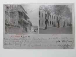 1904 , Dänisch Westindien , Seltene Ansichtskarte Nach Deutschland Verschickt - Denmark (West Indies)