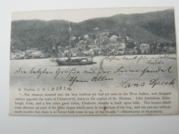 1906 , Dänisch Westindien , Seltene Ansichtskarte Nach Deutschland Verschickt - Denmark (West Indies)