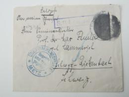 METZ , Lettre Militaire Allemagne - 1. Weltkrieg 1914-1918