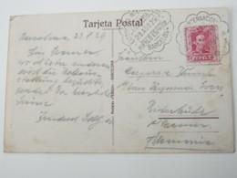 1929 , Barcelona - Exposition  , Tarjeta Postal  A Alemania - 1889-1931 Reino: Alfonso XIII