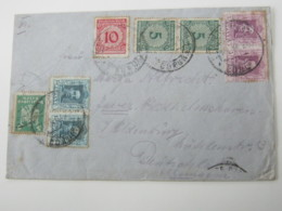 1924 , LA CORUNA , Carta  A Alemania - 1889-1931 Reino: Alfonso XIII