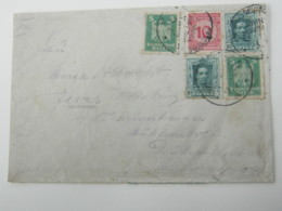 "1924 , LA CORUNA , Carta  A Alemania , Linien Schiff "" BRAUNSCHWEIG"" - 1889-1931 Reino: Alfonso XIII"
