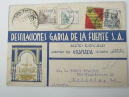 1937, Guerre  , Carta Censurado A Alemania - 1931-Hoy: 2ª República - ... Juan Carlos I