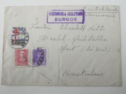 1938, Guerre , Burgos , Carta Censurado A Alemania - 1931-Hoy: 2ª República - ... Juan Carlos I
