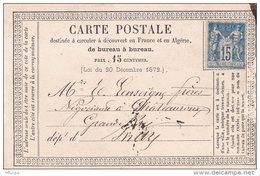 L4A107 France   15c /  CP Précurseur Pour Chateauroux Utilisation Tardive - Entiers Postaux