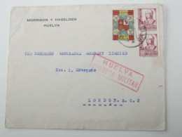 1938, Guerre , HUELVA , Carta Censurado A Alemania - 1931-Hoy: 2ª República - ... Juan Carlos I