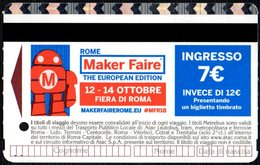 BIGLIETTO AUTOBUS ROMA - ATAC - METREBUS - ROME MAKE FAIRE - THE EUROPEAN EDITION - Autobus