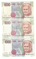 1000 Lire Maria Montessori Serie Sostitutiva XA + XC + XD LOTTO 407 - [ 2] 1946-… : République