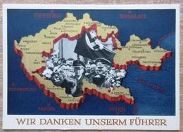 DR Ungebrauchte Postkarte 6 Pfg. Grün 4. Dezember 1938- Wir Danken Unserm Führer - Deutschland