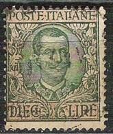 ITALY Yvert 87 Used (Sassone 91)    Cat.value EUR 30,00 - 1900-44 Victor Emmanuel III