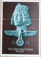 DR Postkarte 6 Pfg. Hindenburg + Marke Turnfest Mit SST München+Tagesstempel Tag Der Deutschen Kunst - Deutschland