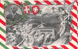 """0754 """"(VB) IL TRAFORO DEL SEMPIONE-IMBOCCO SUD-ISELLE-1898-1905-FIRMATA GIBELLI F."""" ANIMATA,TRENI. CART  SPED 1906 - Verbania"""