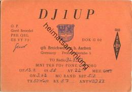 QSL - Funkkarte - DJ1UP - Würselen-Broichweiden - 1958 - Amateurfunk