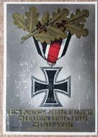 DR Ganzsache Hitler 6+19 Pfg. Mit SST Berlin Rückseitig Ritterkreuz Und Eichenlauf - Deutschland