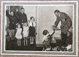 DR Ganzsache Hitler 6+19 Pfg. Stempel Stuttgart Foto Hitler Mit Kindern - Deutschland
