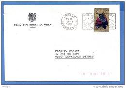 L4B146 ANDORRE ESPAGNOL  Secap Adorre Hiver été/lettre Pour Levallois Perret 11 01 1982 - Lettres & Documents