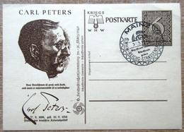 DR Ganzsache Carl Peters 6 Pfg. Mit SST Mainz Kriegs WHW Karte - Deutschland