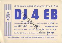 QSL - Funkkarte - DJ4EB - Jülich - 1958 - Amateurfunk