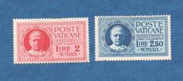 VATICAN- 1929  Expresso - N+  - Pie  XI - 2 Timbres  ( 2 Et 2.50 Lires ) Cat Yvert N°  1 Et 2    Voir Scans - Vatican