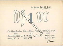 QSL - Funkkarte - DJ1VC - Düren - 1959 - Amateurfunk