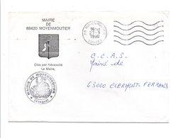 LETTRE DE MAIRIE DE MOYENMOUTIER VOSGES 1990 - Marcophilie (Lettres)