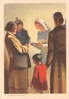 """0757 """"FEDERAZ. ITAL. NAZ.LE FASCISTA PER LA LOTTA CONTRO LA TUBERCOLOSI"""" ANIMATA. CART SPED 1936 - Health"""