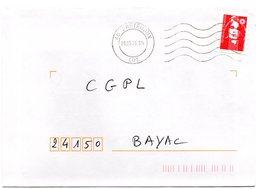 LOT - Dépt N° 46 = BRETENOUX 1995 (BD Double Cercle) =  FLAMME Codée à DROITE = SECAP Muette '5 Lignes Ondulées' - Postmark Collection (Covers)