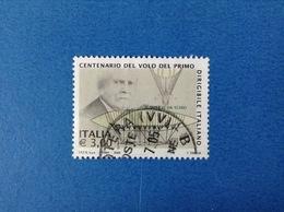2005 ITALIA FRANCOBOLLO USATO STAMP USED - PRIMO DIRIGIBILE ALMERICO DA SCHIO - - 6. 1946-.. Repubblica