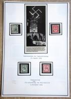 DR MI.Nr. 544,545,554,555 Gestempelt Auf Selbstgestaltem Sammlerblatt Mit Bild Winterberg Denkmal - Deutschland