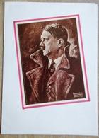 DR Selbstgestaltes Sammlerblatt Mit Bild Hitler In Farbe Befreier Des Volkes Usw. - Unclassified