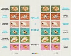 Wallis Et Futuna 1984 Coquillages 312-317 En Feuille ** MNH - Wallis And Futuna