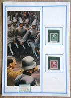 DR Heldengedenktag Mi.Nr. 569,570 Ungebraucht * Auf Selbstgestaltem Sammlerblatt Mit Bild Hitler Und Soldaten - Deutschland