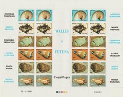 Wallis Et Futuna 1985 Coquillages 323-328 En Feuille ** MNH - Wallis And Futuna