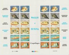 Wallis Et Futuna 1986 Coquillages 337-342 En Feuille ** MNH - Wallis And Futuna