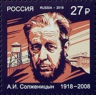 Russia, 2018, Mi. 2636, Nobel Prize Laureates, Alexandr Solzhenitsyn, Writer, MNH - 1992-.... Federation