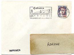 LOT - Dépt N° 46 = CAHORS RP 1966 = FLAMME Codée = SECAP  Illustrée Du PONT Valentré 'VILLE Du MOYEN AGE' - Postmark Collection (Covers)