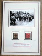 DR Gedenktag 9.11.1923 Mi.Nr. 589,599 Gest. Auf Selbstgestaltem Sammlerblatt Foto Hitler In Marschformation - Deutschland