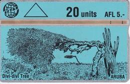 TARJETA DE ARUBA DE DIVI-DIVI TREE 20 UNITS (305A) - Aruba
