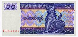 МЬЯНМА 71b MYANMAR 10 KYATS ND(1997) Unc - Myanmar