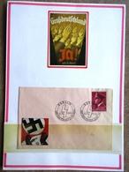 DR Hitler Mi.Nr. 813 Auf Brief SST Berlin Auf Selbstgestaltem Sammlerblatt Foto Großdeutschland - Deutschland