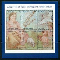 Tuvalu 1999 New Millenium - Allegories Of Peace Sheetlet MNH (SG 864-870) - Tuvalu