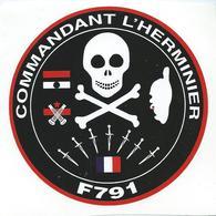 240 - MARINE NATIONALE - AUTOCOLLANT  - AVISO CDT L'HERMINIER - Stickers