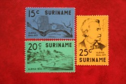 Nederzetting Albina ; NVPH Nr: 574-576 ; 1971 MNH / Postfris SURINAME / SURINAM - Surinam ... - 1975