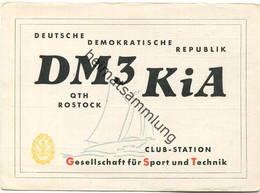 QSL - Funkkarte - DM3KiA - Rostock - Gesellschaft Für Sport Und Technik - 1959 - Amateurfunk