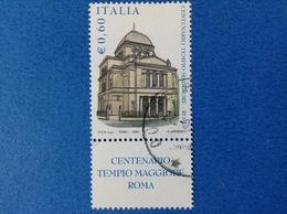 2004 ITALIA FRANCOBOLLO USATO STAMP USED - TEMPIO MAGGIORE ROMA 0,60 - CON APPENDICE - 6. 1946-.. Repubblica