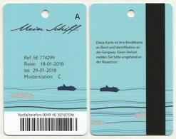 Kabinenkarte Cabin Card Vom Kreuzfahrtschiff Mein Schiff (02) - Hotelkarten