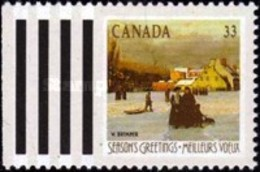 USED STAMPS Canada - Christmas - Paintings Of Winter Landscap-1989 - 1952-.... Reign Of Elizabeth II