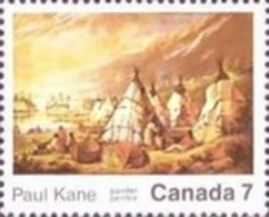 USED STAMPS Canada - The 100th Anniversary Of The Death Of Paul Kane-1989 - 1952-.... Reign Of Elizabeth II