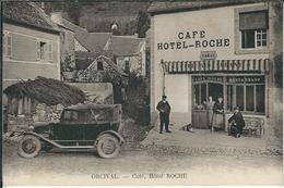 """Puy De Dome : Orcival, Café Et Hotel """"ROCHE"""", Top Carte...Rare... - France"""