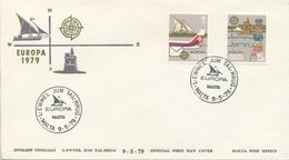 MALTA - FDC 1979  - EUROPA UNITA - CEPT - POSTA - Malte